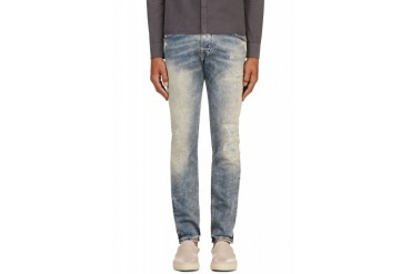 Diesel Blue Faded And Distressed Belther L.32 Jeans