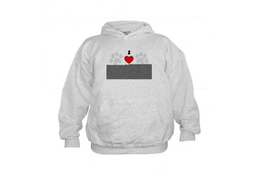 I Love My Great Dane Pets Kids Hoodie by CafePress