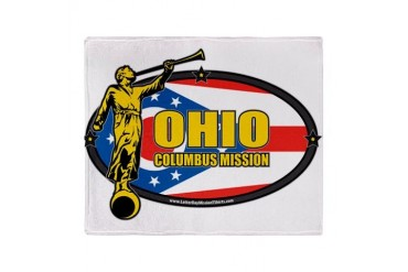Ohio Columbus LDS Mission Clothing T-Shirts and Gi Gifts Throw Blanket by CafePress
