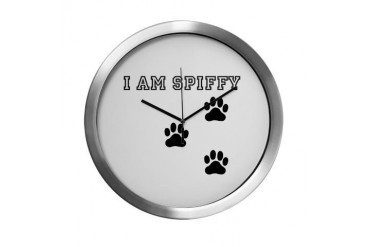 spiffy Cool Modern Wall Clock by CafePress