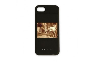Vintage Horse iPhone Charger Case by CafePress