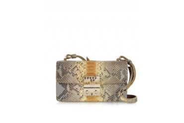 Python Leather Mini Shoulder Bag