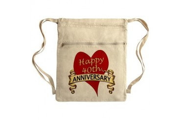 Sack Pack Anniversary Cinch Sack by CafePress