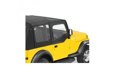 Bestop Soft Upper Doors for Factory Soft Top with Steel Half Doors in Black Denim 51782-15 Door