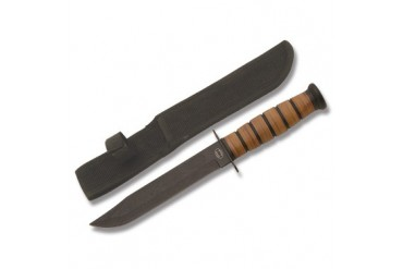 Frost Cutlery Combat Fighter with Stacked Leather Handle
