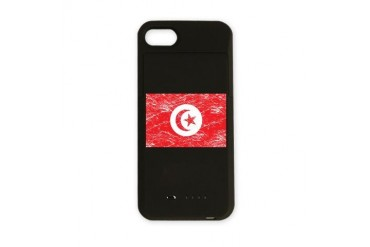 Vintage Tunisia Flag Tunisia iPhone Charger Case by CafePress