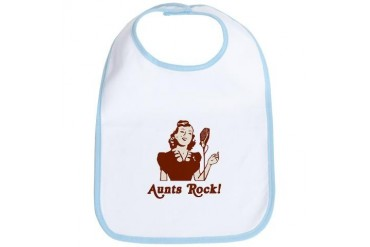 Retro Aunts Rock Aunt Bib by CafePress
