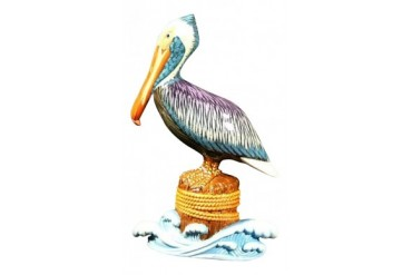Nautical Pelican Piling Tiki Wall Nursery Bath Decor