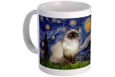 Starry Night Himalayan cat Mug