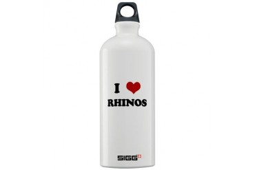 RHINOS.png Funny Sigg Water Bottle 1.0L by CafePress