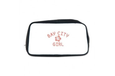 Bay City Pink Girl Michigan Toiletry Bag by CafePress