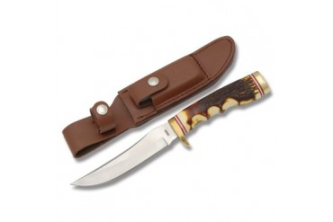 Schrade Uncle Henry Golden Spike with Staglon Handle