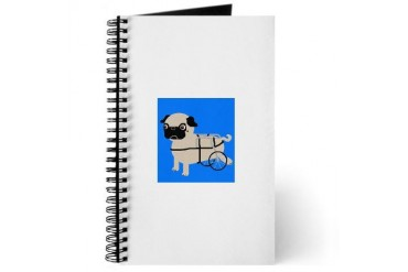 Pug on Wheels Pets Journal by CafePress
