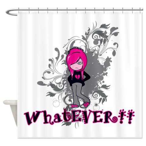 Attitude Whatever Ermo Girl Vector Art Shower Punk Shower