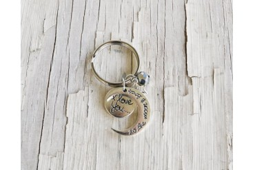 I Love You to the Moon and Back Key Chains