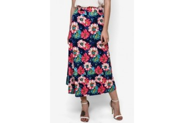 Chic Simple Maxi Floral Skirt