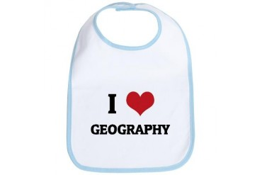 I Love Geography Love Bib by CafePress