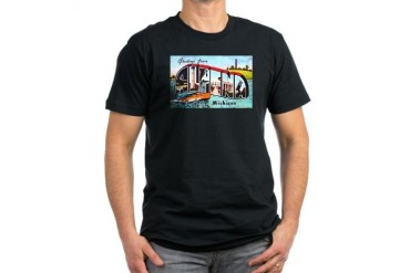 Alpena Michigan Greetings Men's Fitted T-Shirt da Vintage Men's Fitted T-Shirt dark by CafePress