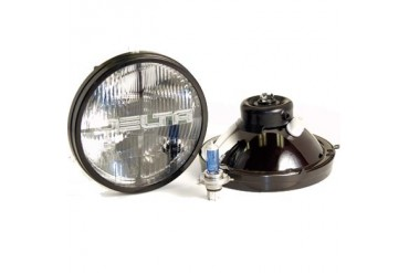 Delta Industries 7 Round Quad Bar Halogen H4 Headlight Kit 01-1199-50 Headlight Replacement