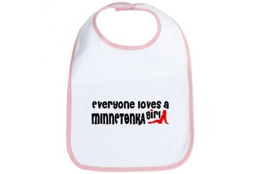 Everyone loves a Minnetonka Girl Minnesota Bib by CafePress