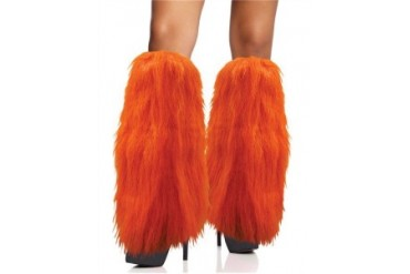Furry Orange Leg Warmers