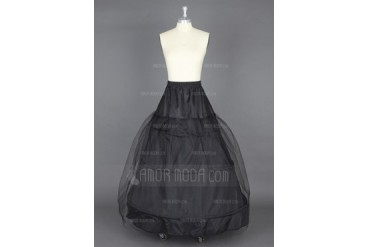 Women Nylon/Tulle Netting Floor-length 1 Tiers Petticoats (037024154)