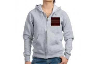 Red Stripes Vintage Women's Zip Hoodie by CafePress