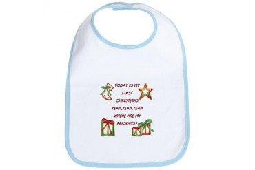 Today is my 1st Christmas Cute Bib by CafePress