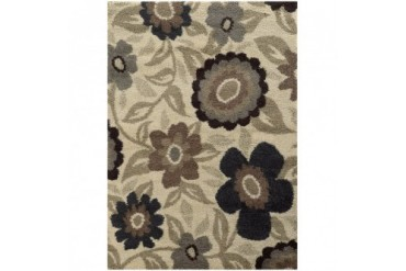 Sphinx Covington Contemporary Ivory Floral Vines Leaves Stems Area Rug