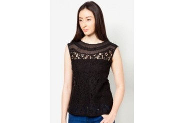 DressingPaula Sleeveless Top With Lace