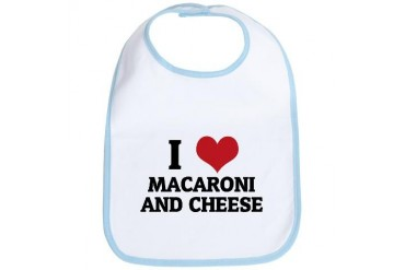 I Love Macaroni And Cheese Health Bib by CafePress