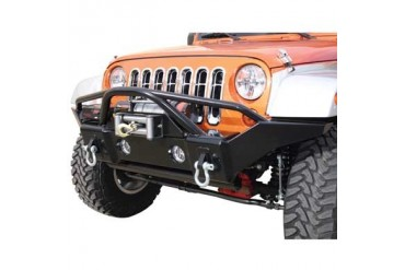 Rampage Recovery Front Bumper with Stinger in Gloss Black Powder Coat 86510 Front Bumpers