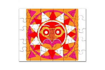 Sun God Graphic Puzzle by CafePress