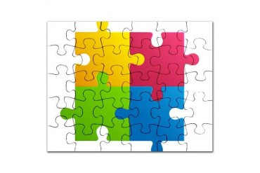 Colorful Cool Puzzle by CafePress