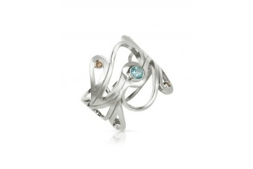 Sterling Silver Mari Splash Ring