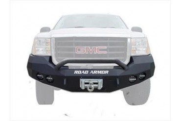 Road Armor Pre-Runner Guard Front Stealth Winch Bumper in Satin Black 37404B Front Bumpers