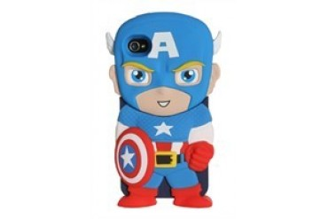 Marvel Comics Captain America Chara-Cover iPhone 4/4S Rubberized Hard Phone Case