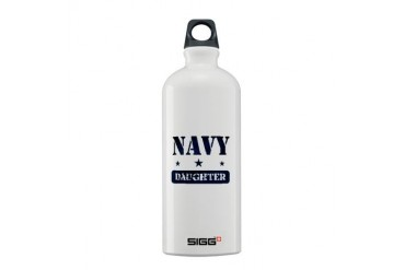 Navy Daughter Navy Sigg Water Bottle 0.6L by CafePress
