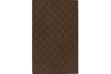 Dalyn Tones Contemporary Brown Striped Diamonds Squares Lines Area Rug