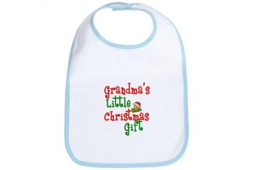 Grandma's Little Christmas Gift Baby Bib by CafePress