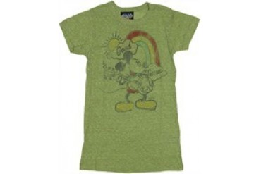 Disney Mickey Mouse Good Times Loose Knit Baby Doll Tee by JUNK FOOD