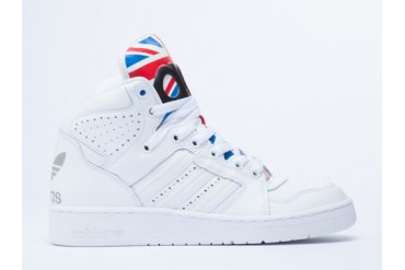 Adidas Originals X Jeremy Scott Instinct Hi Womens in Union Jack size 10.0