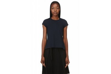 Sacai Luck Navy Sheer Back T shirt