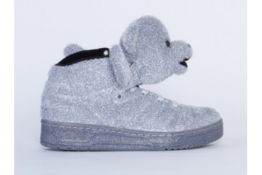 Adidas Originals X Jeremy Scott Bear Womens in Silver size 10.0