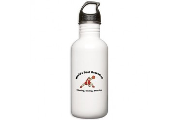 Worlds Best Basketball Cool Stainless Water Bottle 1.0L by CafePress