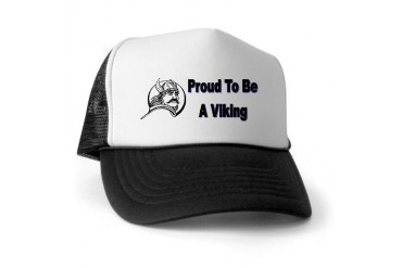 Proud To Be A Viking Norwegian Trucker Hat by CafePress