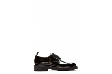 Ami Alexandre Mattiussi Black Leather Heavy Sole Derbys