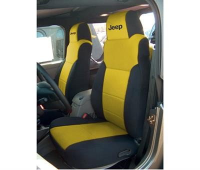 Brilliant Coverking Jeep Logo Black And Yellow Neoprene Front Seat Lamtechconsult Wood Chair Design Ideas Lamtechconsultcom