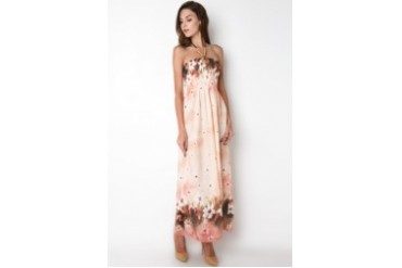 novel.mice Newstyle Schiffon Maxi Dress