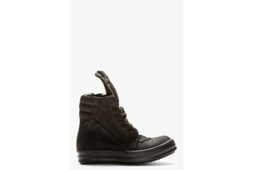 Rick Owens Black Geobasket High Top Sneakers